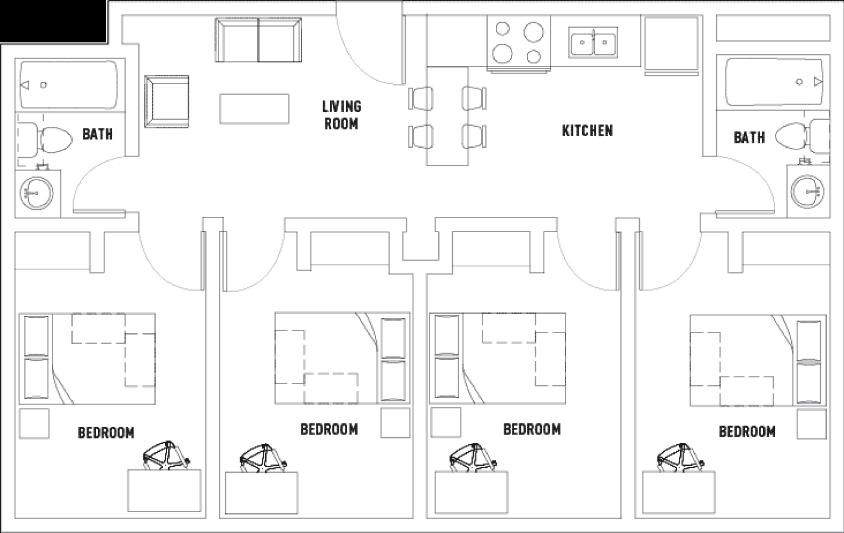 Centennial Place Student Residence Floorplans